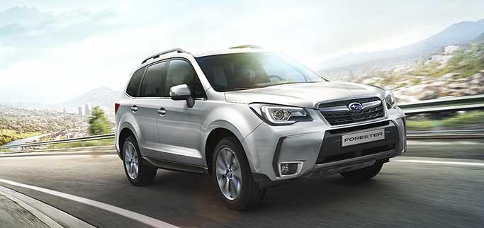 Subaru Forester på väg