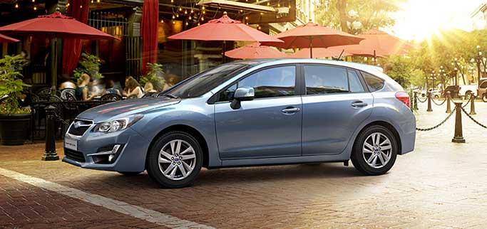 Subaru i stadsmiljö